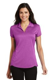 Ladies Personalized Trace Heather Polo by Port Authority  L576 (Color: Berry Heather, Size: Large)