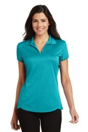Ladies Personalized Trace Heather Polo by Port Authority  L576 (Color: Tropic Blue Heather, Size: Small)