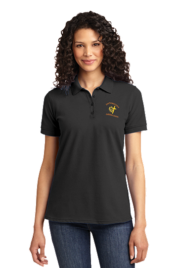 Port & Company® Ladies Core Blend Pique Polo. - SWCS (Polo Size: XS - 2, School Colors: Grey)