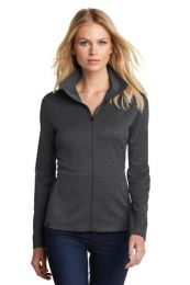 Ladies Sweater Alternative Pixel Full-Zip by OGIO. LOG203. (Color: Blacktop, Size: Large)