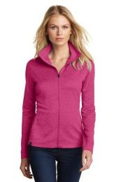 Ladies Sweater Alternative Pixel Full-Zip by OGIO. LOG203. (Color: Pink Crush, Size: Large)