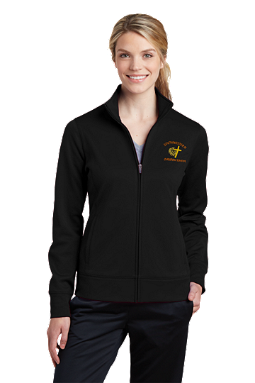 Sport-Tek® Ladies Sport-Wick® Fleece Full-Zip Jacket - SWCS (Color: Black, Size: XS - Size 2)
