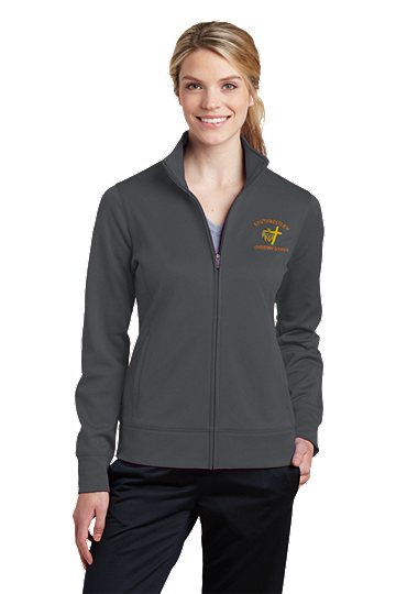 Sport-Tek® Ladies Sport-Wick® Fleece Full-Zip Jacket - SWCS (Color: Dark Smoke Grey, Size: XS - Size 2)