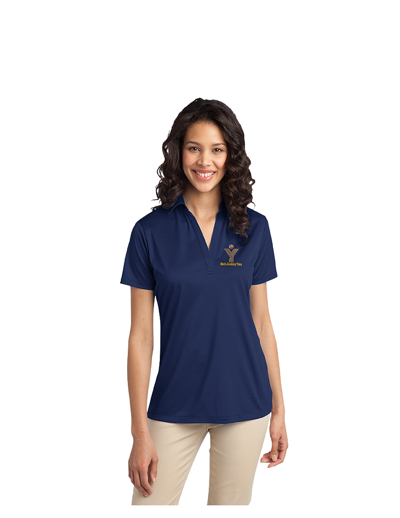 Port Authority® Silk Touch™ Ladies Performance Polo - MAY (Performance Polo Color: Royal Blue, Polo Size: XS)