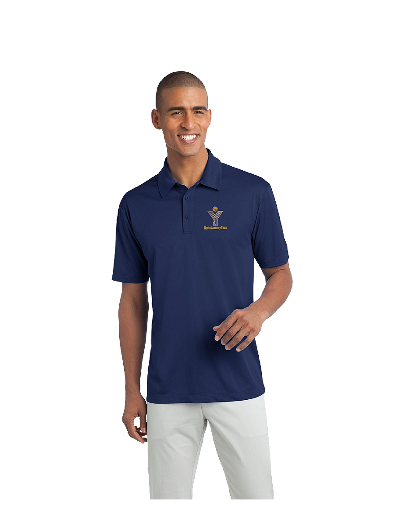 Port Authority® Silk Touch™ Men's Performance Polo - MAY (Performance Polo Color: Royal Blue, Polo Size: XS)