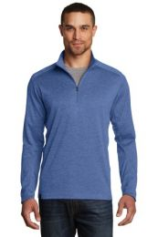 Men's Sweater Alternative Pixel 1/4-Zip by OGIO. OG202. (Color: Optic Blue, Size: Large)