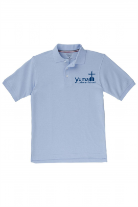 French Toast Boy's Short Sleeve Pique Polo (Polo Size: XS - 4/5, French Toast Polo Color: Lt Blue - YLS)