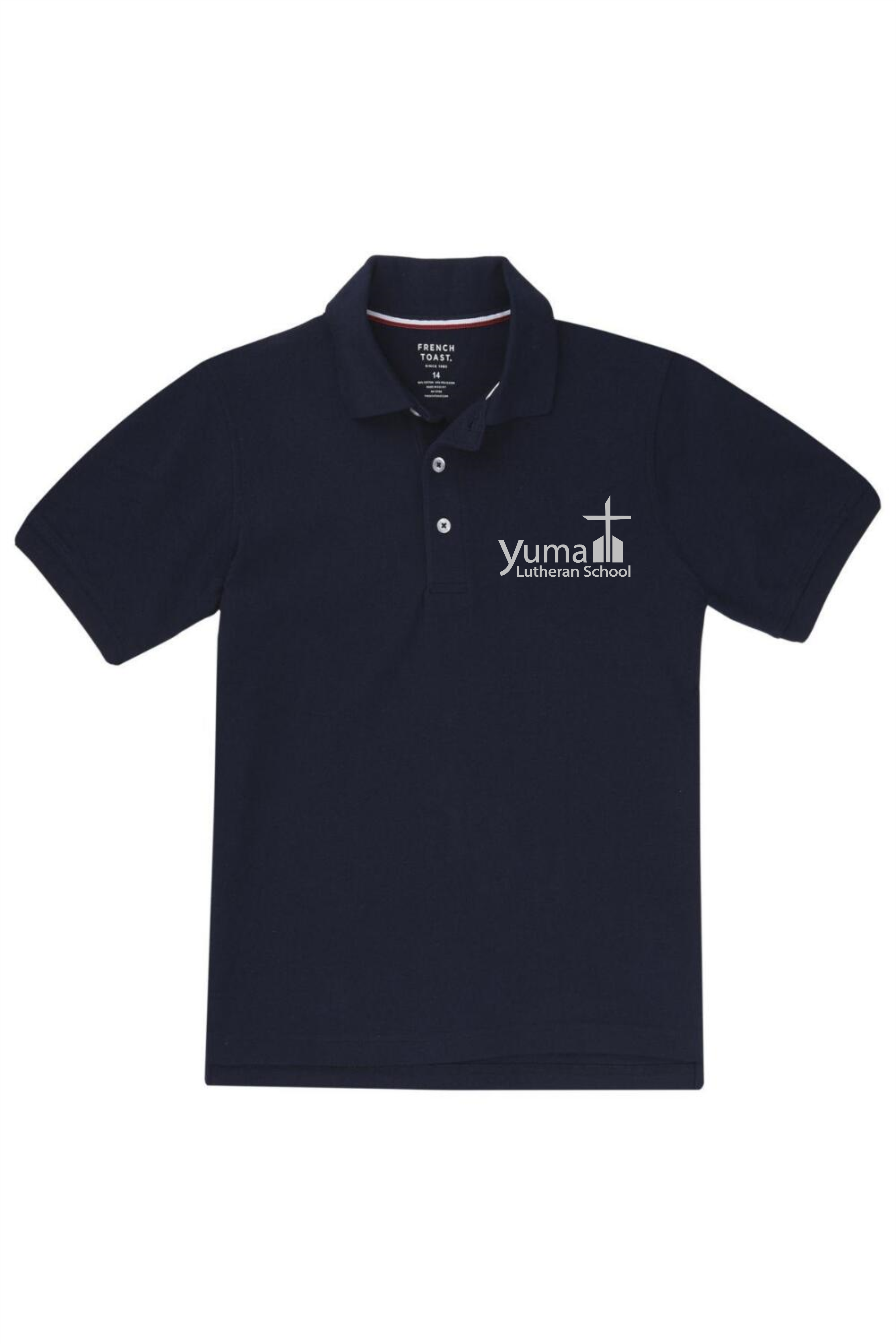 French Toast Boy's Short Sleeve Pique Polo (Polo Size: 4T, French Toast Polo Color: Navy - YLS)