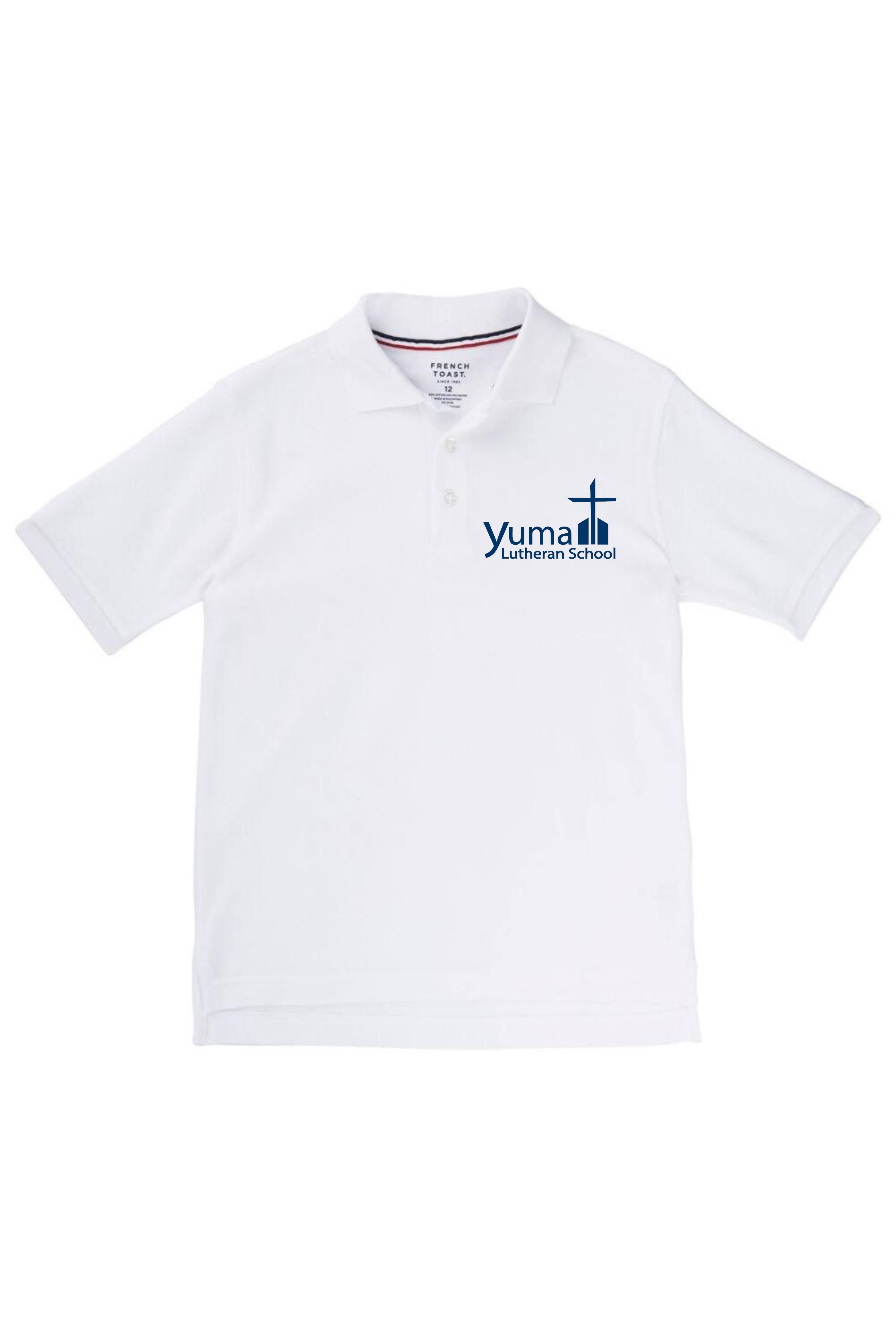 French Toast Boy's Short Sleeve Pique Polo (Polo Size: 4T, French Toast Polo Color: White)