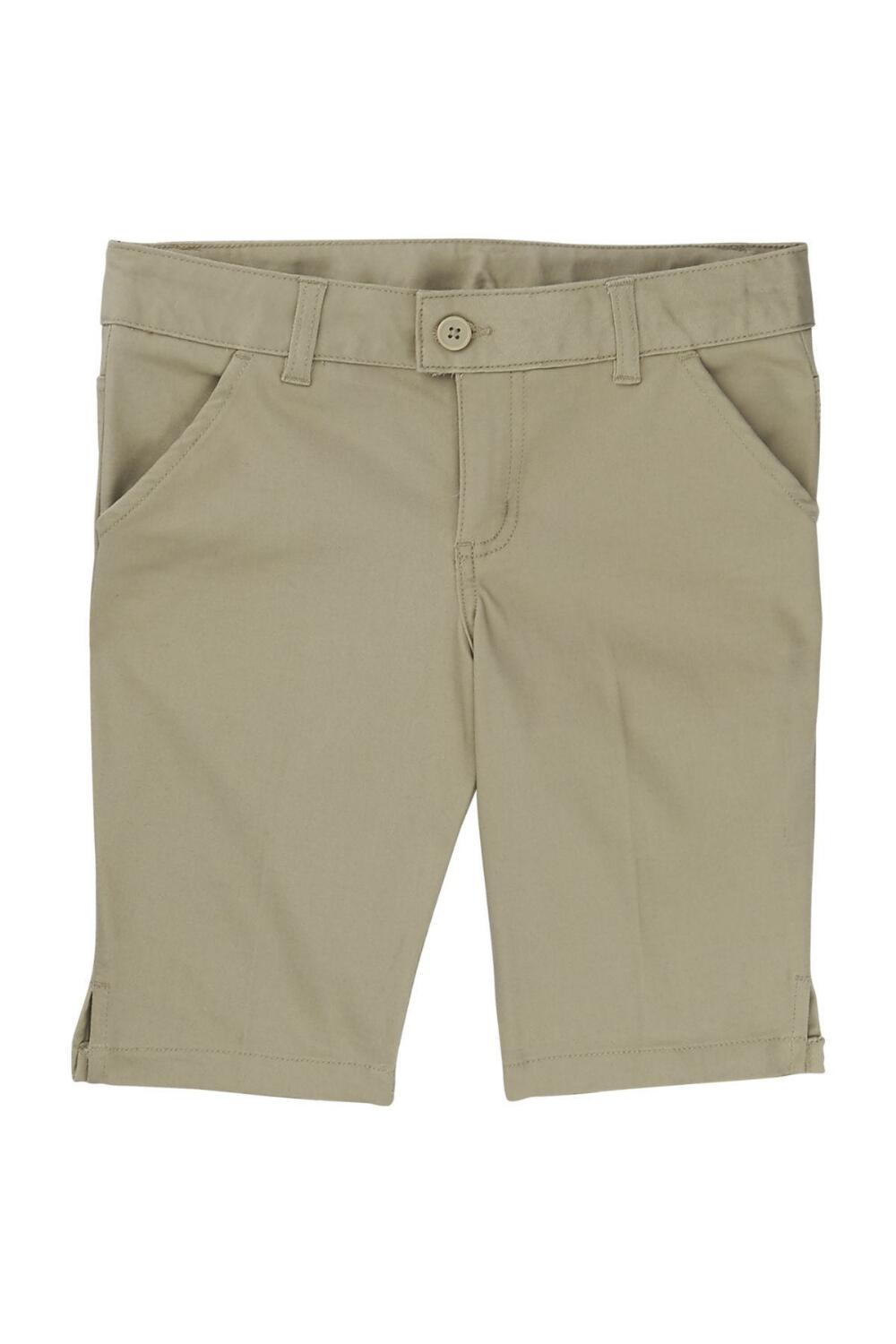 French Toast Girl's Bermuda Short (Color: Khaki Short, Size: 4)
