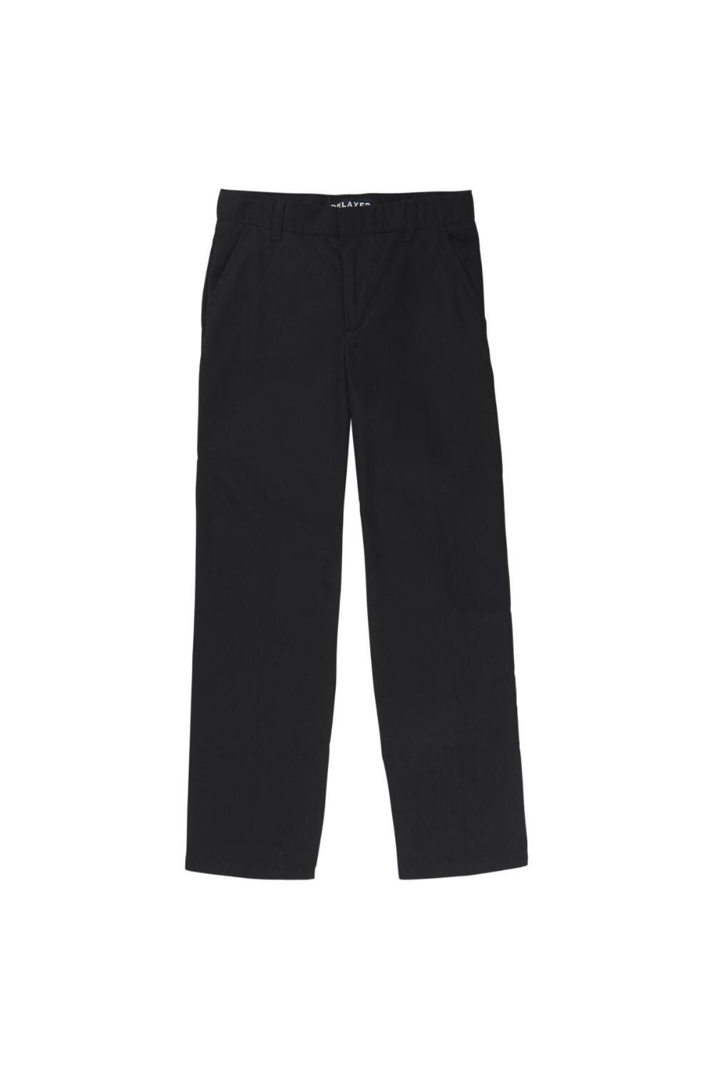 Boy's Adjustable Waist Double Knee Pant (Pant Color: Black, Pant Size: Size 4)