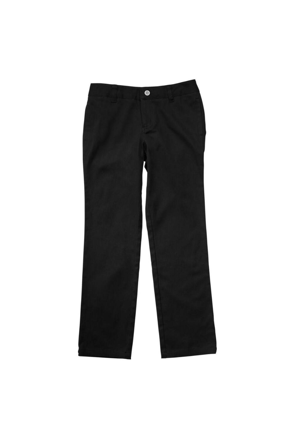 French Toast Girl's Straight Leg Twill Pant (Pant Color: Black, Pant Size: Size 4)