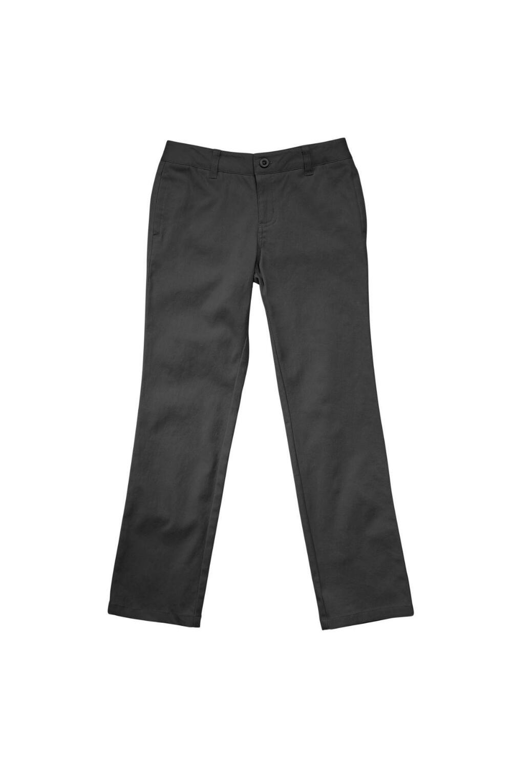 French Toast Girl's Straight Leg Twill Pant (Pant Color: Grey - SWCS, Pant Size: Size 4)