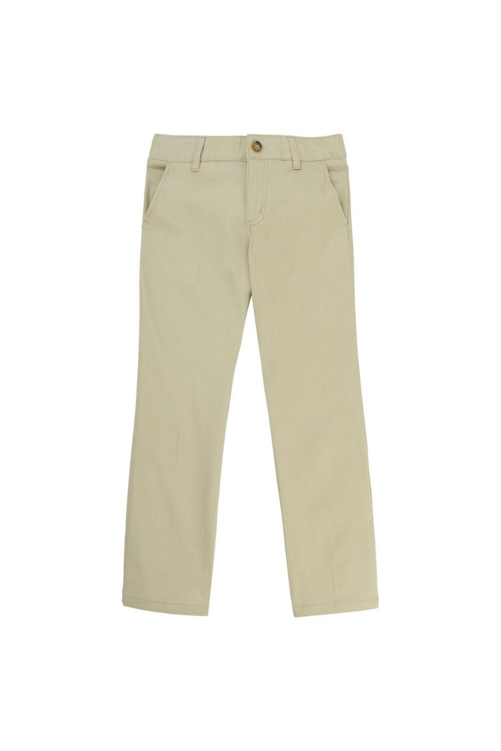 French Toast Girl's Straight Leg Twill Pant (Pant Color: Khaki, Pant Size: Size 4)