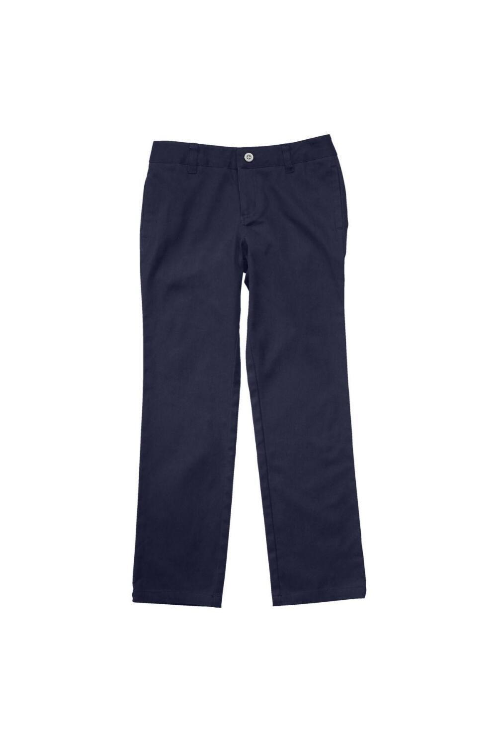 French Toast Girl's Straight Leg Twill Pant (Pant Color: Navy - YLS, Pant Size: Size 4)