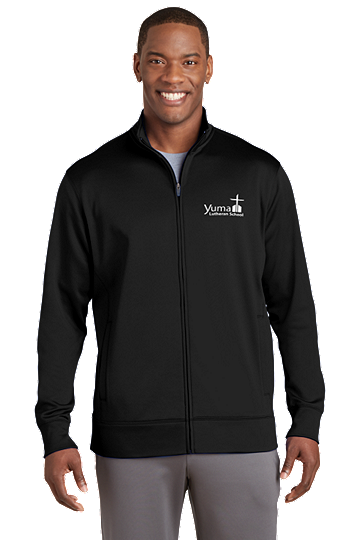 Sport-Tek® Sport-Wick® Men's Fleece Full-Zip Jacket - YLS (Jacket Size: XS Size 32-34, School Colors: Black)