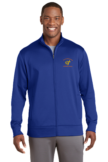 Sport-Tek® Sport-Wick® Men's Fleece Full-Zip Jacket - SWCS (Color: True Royal, Size: XS - Size 32/34)