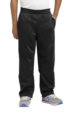 Sport-Tek® Youth Sport-Wick® Fleece Pant (Color: Black, Size: XS - Size 4)