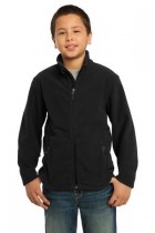 Youth Soft, Light-Weight Fleece Jacket. Y217. (Color: Black, Size: Small)