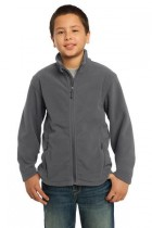 Youth Soft, Light-Weight Fleece Jacket. Y217. (Color: Iron Grey, Size: Small)