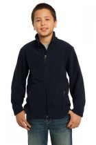 Youth Soft, Light-Weight Fleece Jacket. Y217. (Color: True Navy, Size: Small)