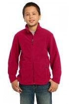 Youth Soft, Light-Weight Fleece Jacket. Y217. (Color: True Red, Size: XL)