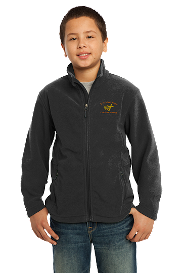 Port Authority® Youth Value Fleece Jacket - SWCS (Color: Black, Size: XS - Size 4)