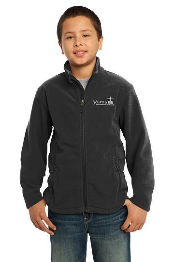 Port Authority® Youth Value Fleece Jacket - YLS (Jacket Size: YXS Size 4, School Colors: Black)