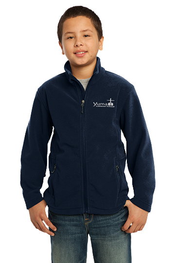 Port Authority® Youth Value Fleece Jacket - YLS (Jacket Size: YXS Size 4, School Colors: Navy)