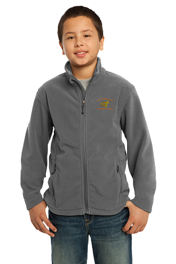 Port Authority® Youth Value Fleece Jacket - SWCS (Color: Iron Grey, Size: XS - Size 4)
