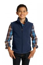 Youth Super-Soft, Mid-Weight Fleece Vest by Port Authority. Y219. (Color: True Navy, Size: Large)