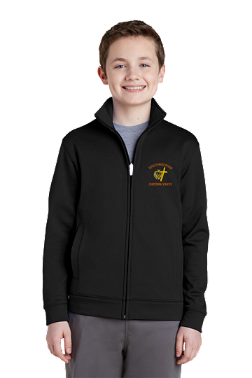 Sport-Tek® Youth Sport-Wick® Fleece Full-Zip Jacket - SWCS (Color: Black, Size: XS - Size 4)